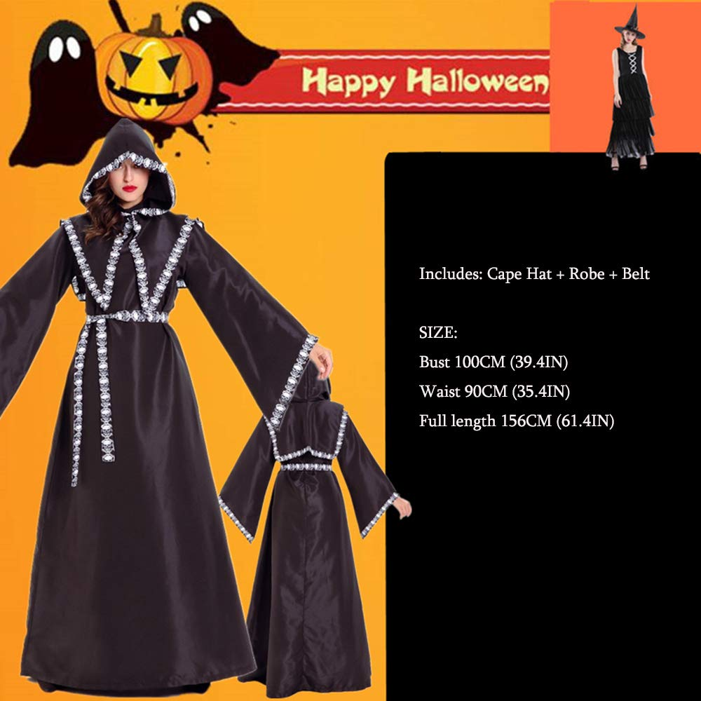 RENJIANFENG Túnica De Brujo Disfraces De Halloween para ...