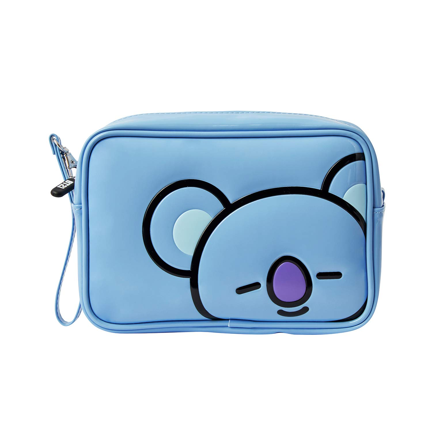 BT21 Official Merchandise by Line Friends - KOYA Enamel Cosmetic Bag Travel Pouch for Toiletry and Makeup