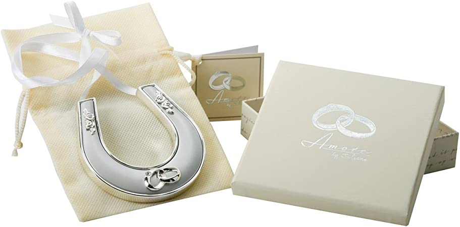 Gift Boxed Horse Shoe /_ Ideal Personalised Wedding Gift/_ ANY COLOUR SCHEME.