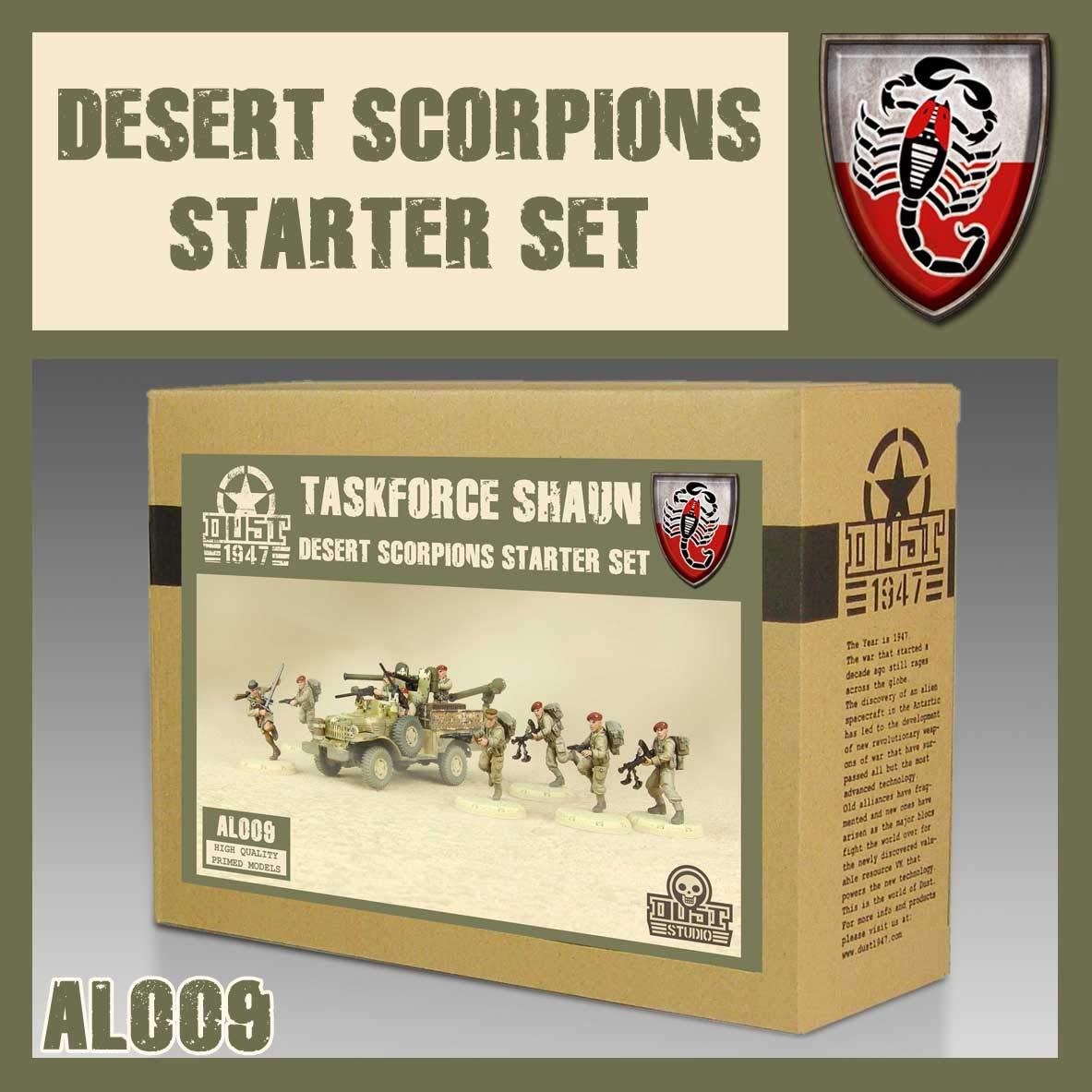 Allied Desert Scorpions Starter Set Taskforce Shaun DUST 1947