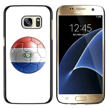 STPlus Bandera y balón paraguayos del equipo de fútbol de Paraguay Carcasa Funda Rigida Para Samsung