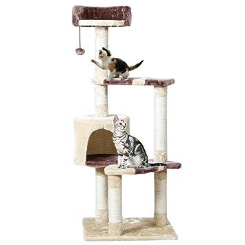 Pawz Road kratz Árboles Muebles para gatos Árbol para gatos de sisal recubierto postes (Beige