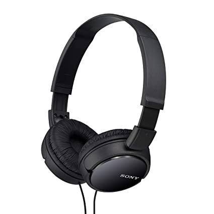d7450ccd6bf Amazon.com: Sony MDRZX110/BLK ZX Series Stereo Headphones (Black): Home  Audio & Theater