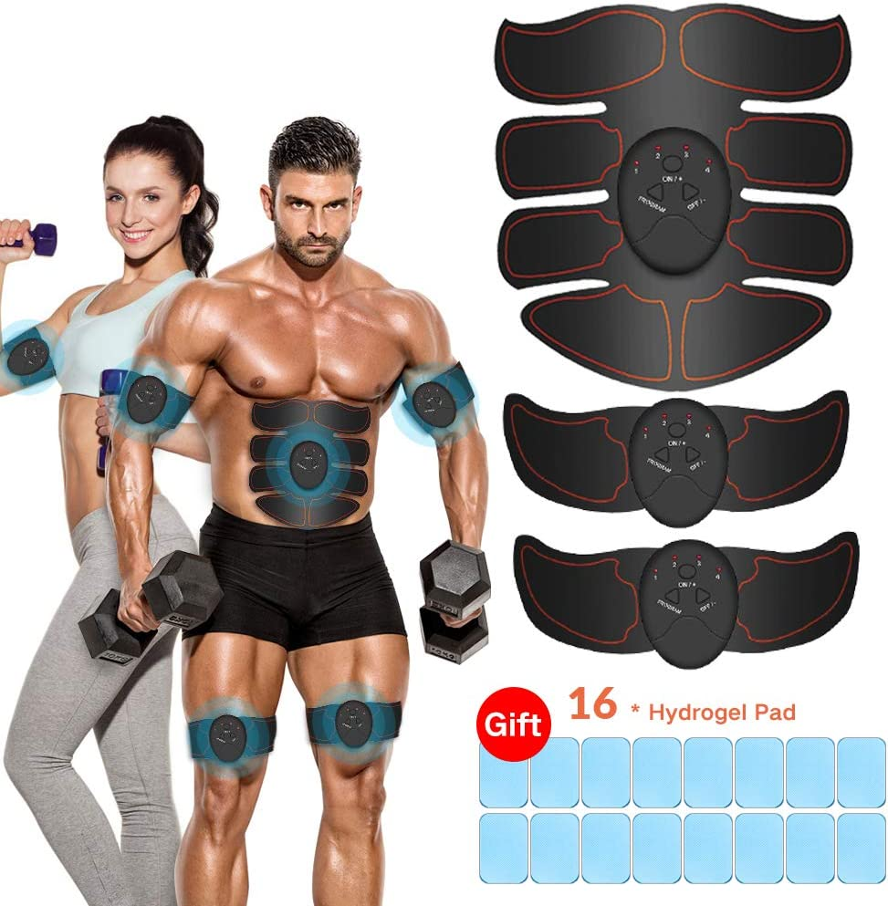 vcloo Abdominal Muscle Trainer Abs Stimulator Muscle Toner Upgraded Fitness Training Equipment Workout Equipment Portable for Men Women Losing Weight Building Muscle