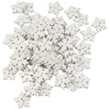 Mahaohao White Snowflake buttons Assorted Holiday Collection Snowflakes Buttons Embellishments