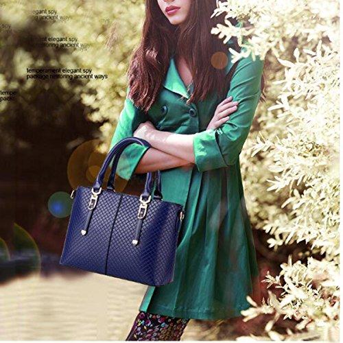 WU ZHI Bolsos De Las Señoras PU Salvaje Messenger Bags Handbags Shoulder Bag Blue