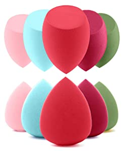 Copeak 10 Pcs Makeup Sponge Set Beauty Blender Foundation, Flawless for Liquid, Cream and Powder, Multi-Purpose Cosmetic Applicator Puff for Effortless Blending