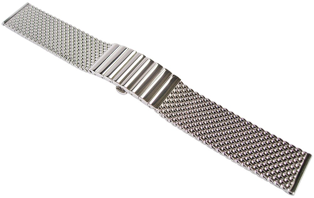 Staib 18mm Polished Mesh 150mm Steel Watch Band Model 2792