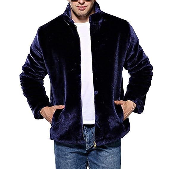 Betrothales Chaqueta Invierno Pie Abrigo Hombres Cálido Chaquetones Sintética Collar Chaqueta Chaquetas Piel Piel Oveja Outwear Coat Coat Jacket: Amazon.es: ...