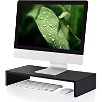 FITUEYES Monitor Stand Wood PC Laptop Computer Screen Riser Desk with Keyboard Storage Space 54 x 25cm DT105401WB