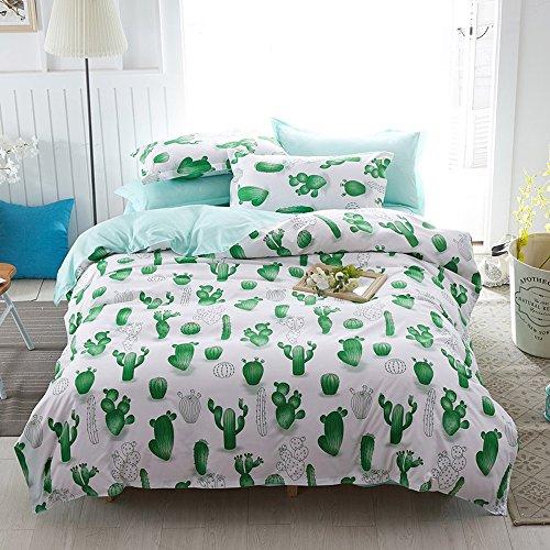 Hxiang Simple Cactus Bedding Children's cartoon Duvet Cover