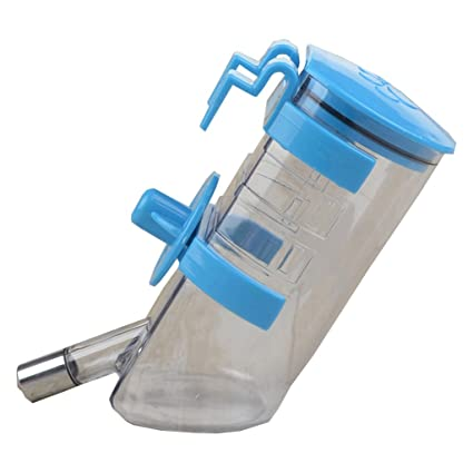 Botellas de Agua para Perros- Dispensador de Agua automático Hangable Plastic + Stainless Steel 500ml