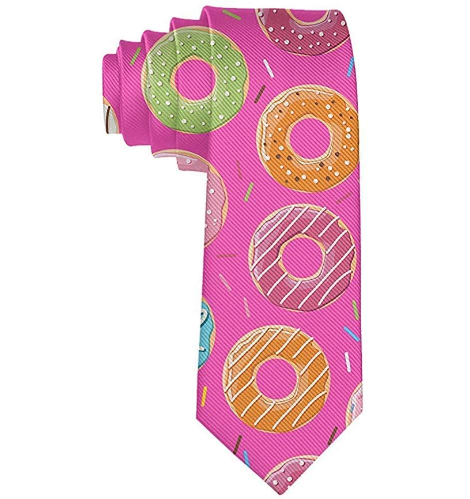 Corbatas de rosquilla rosa para hombre Corbatas delgadas novedad ...