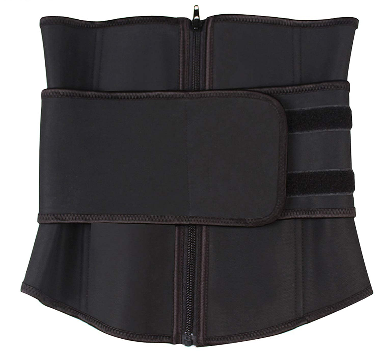 Abdominal Belt Zipper Plus Size Latex Waist Corset Waist Trainer,Fuchsia,S