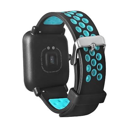 SUKEQ for AMAZFIT Watch Band, Universal Lightweight Ventilate Replacement Wrist Strap Breathable Sport Wristband for AMAZFIT Youth Sports Smartwatch