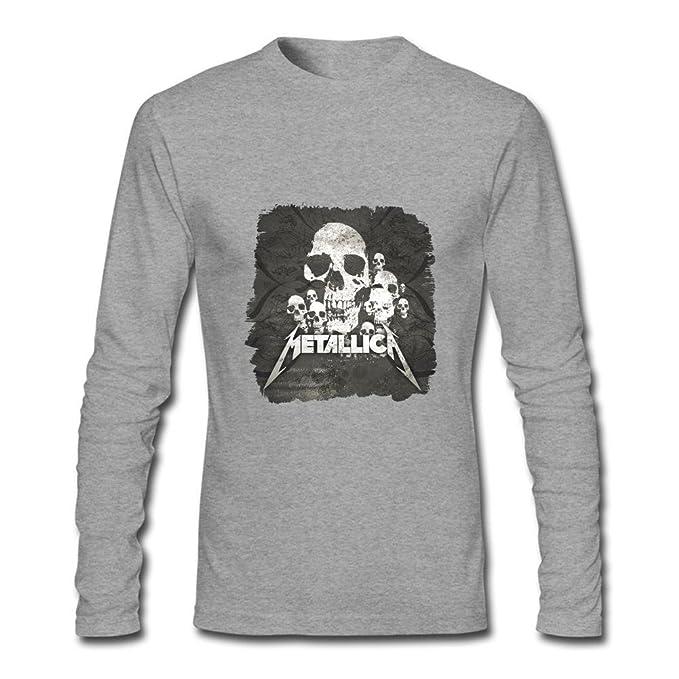 kittyer Metallica del hombres manga larga camiseta de algodón: Amazon.es: Ropa y accesorios