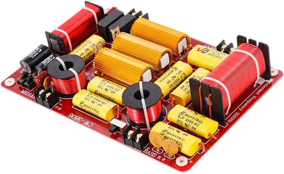 Baoblaze 3 Wege Hochtöner Mitteltöner Tieftöner Bass Audio Frequenzteiler Frequenzweiche Modul Für 600w Lautsprecher