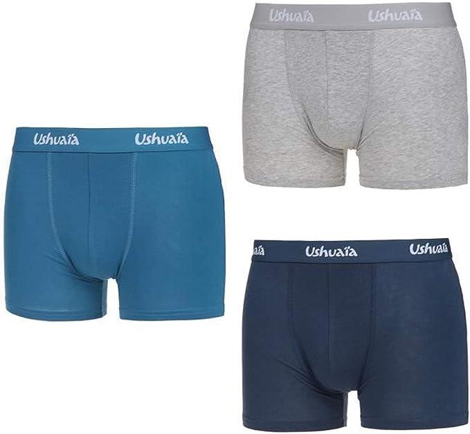 Ushuaia - Calzoncillos para Hombre, algodón elástico, Pack de 3 ...