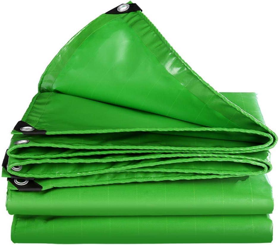 防水シート、グリーンPVCナイフ掻き布多目的屋外両面防雨防水シート涙耐性耐腐食シェード布カバー防水シート,8x10m  8x10m