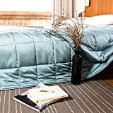 #4: YnM Cooling Weighted Blanket, 100% Natural Bamboo Viscose, 15 lbs 48''x72'', Thin Gravity 2.0 Blanket, Great Sleep Therapy for People with Anxiety, Autism, ADHD, Insomnia or Stress, Sea Grass