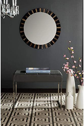 Safavieh Home Collection Roitfeld Modern Glam Grey Ottoman