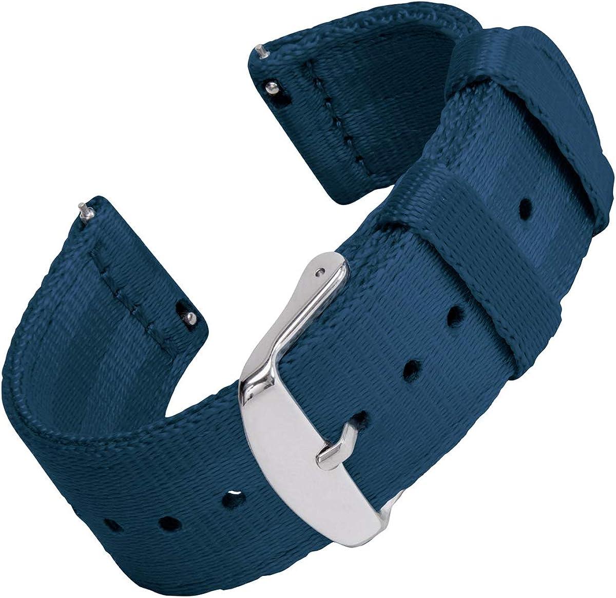Archer Watch Straps - Seat Belt Nylon Quick Release Watch Bands   Multiple Colors, 18mm, 20mm, 22mm