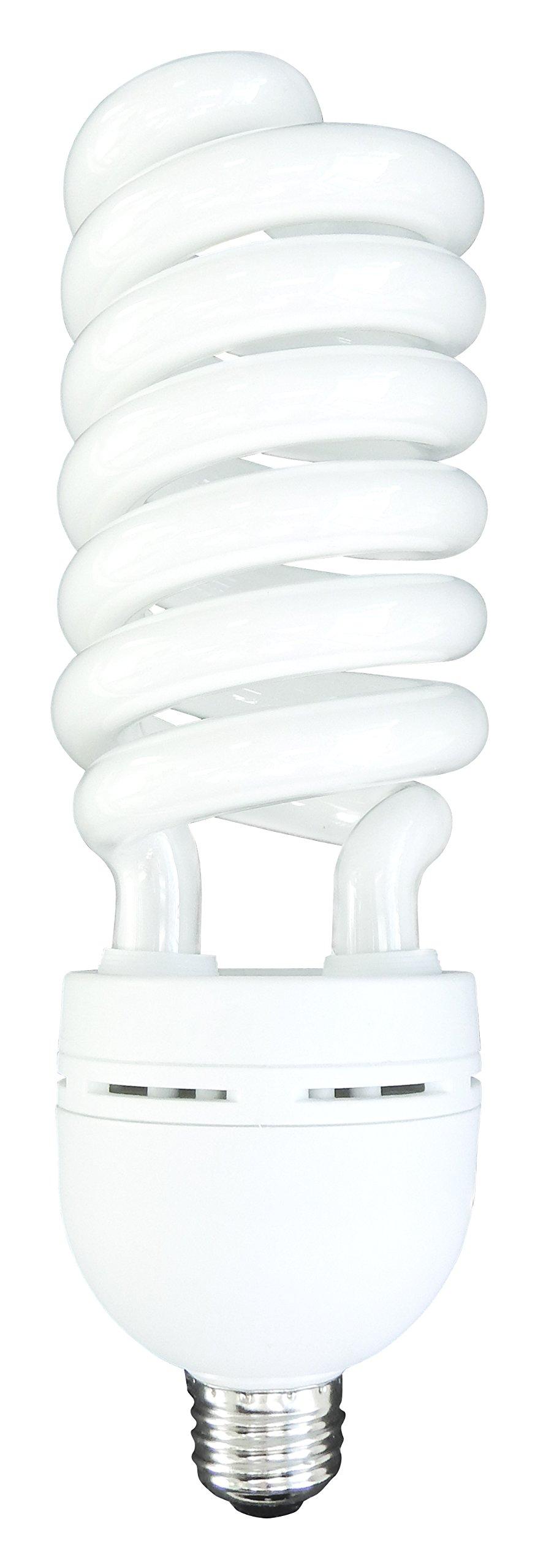 Luxrite LR20220 (12-Pack) 85-Watt High Wattage CFL Spiral Light Bulb, Equivalent To 350W Incandescent, Warm White 2700K, 5150 Lumens, E26 Standard Base by LUXRITE (Image #2)