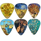 Vincent Van Gogh Almond Blossom Guitar Picks - 12 pc Celluloid Medium - Cool Unique Music Gift