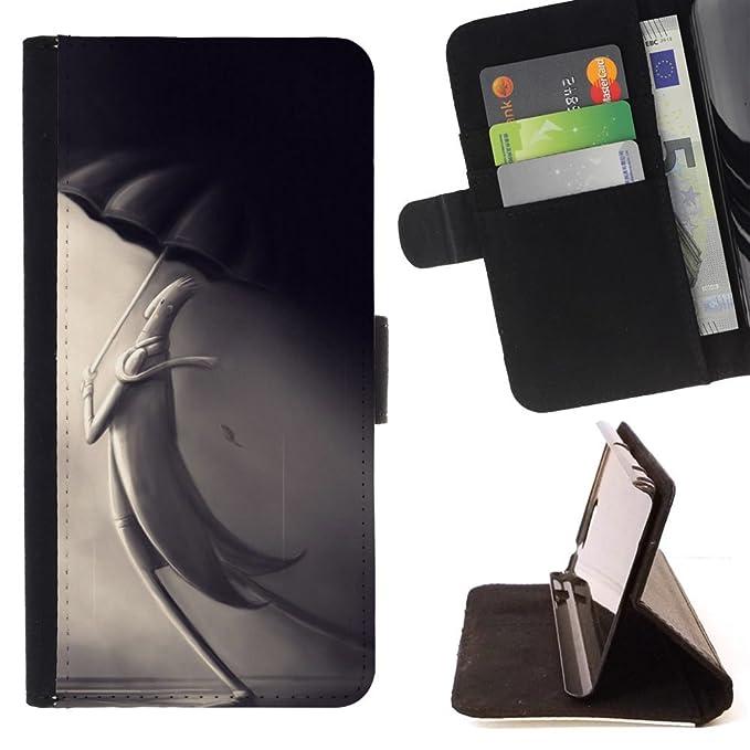 Momo - Teléfono móvil/perchero de pared de funda de piel con ...