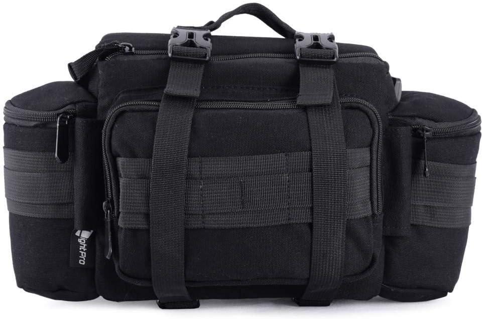 He-lanshangmaobu Fashion Camera case Multi-Functional Camera Canvas Tactical Bag Waist Rucksack Soft Pack Single Shoulder Case for Canon Nikon Sony DSLR Color : Khaki