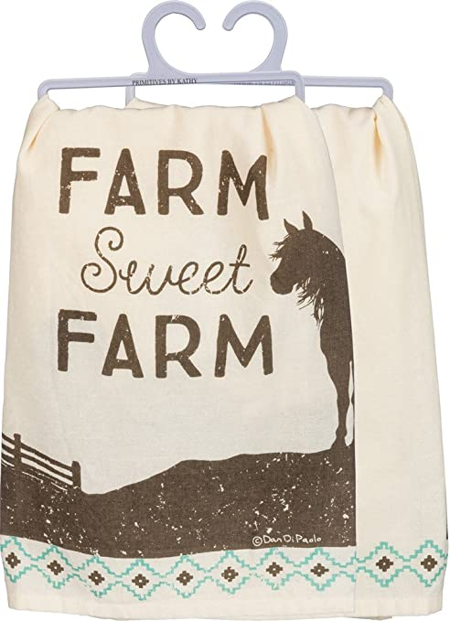 Farm Sweet Farm Tea Towel  Farm Sweet Farm Kitchen Towel  Farmhouse Tea Towel  Farm Sweet Farm