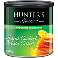 Hunter's Gourmet Hand Cooked Potato Chips Yoghurt with Natural Herbs - 40gm