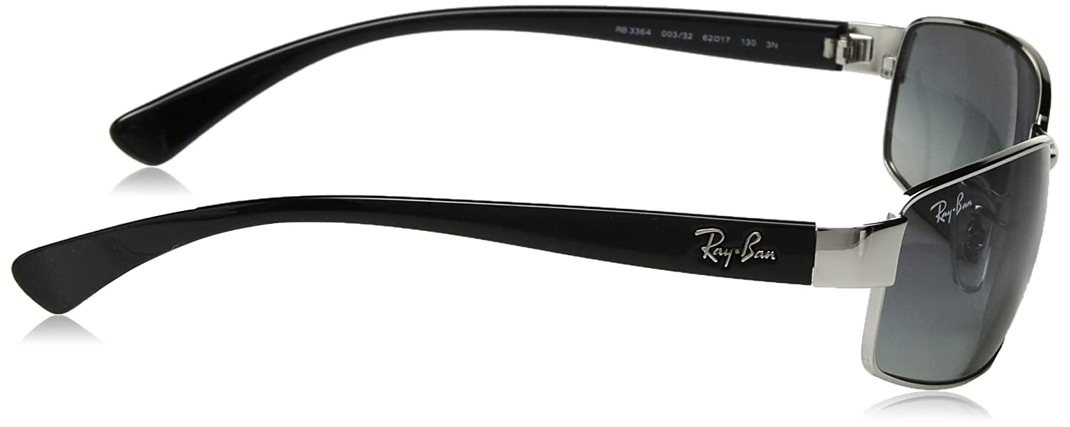 d3a8c4231d6 Amazon.com  Ray Ban Rb3364 Silver Frame Grey Gradient Lens Metal  Sunglasses