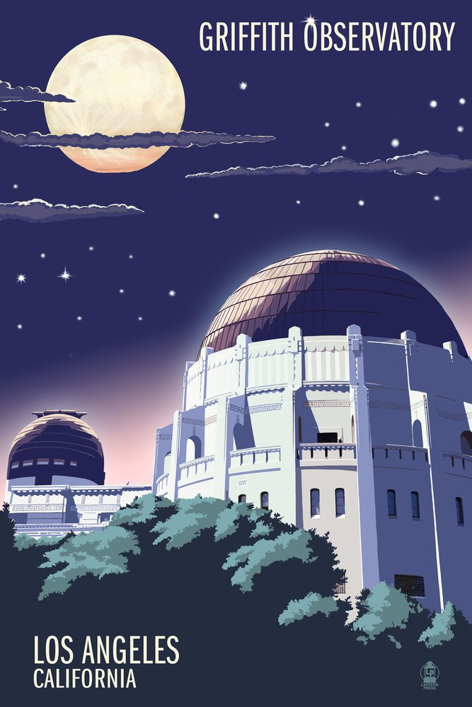 見事な Griffith Observatory B00N5CQOZA at night – ロサンゼルス、カリフォルニア Griffith 36 LANT-43634-36x54 x 54 Giclee Print LANT-43634-36x54 B00N5CQOZA 12 x 18 Art Print 12 x 18 Art Print, インテリアshopラグジュエル:60a80586 --- cursos.paulsotomayor.net