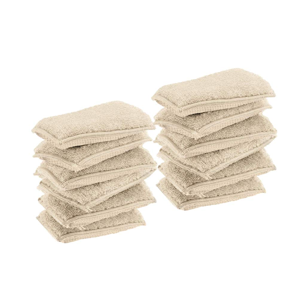 Bamboo Naturals Kitchen Sponges,Dish Sponge,Super Absorbent Dish Sponges, Pack of 12