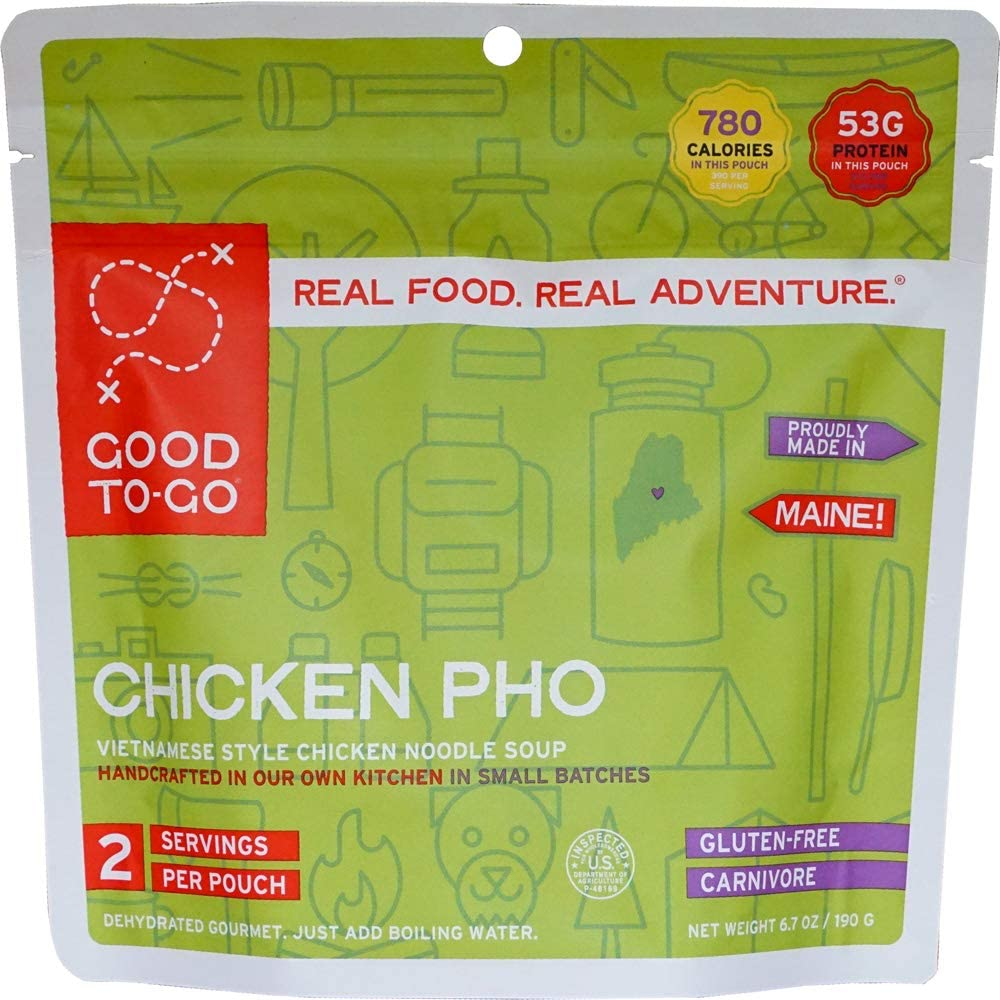 GOOD TO-GO Chicken Pho | Dehydrated Backpacking and Camping Food | Lightweight | Easy to Prepare