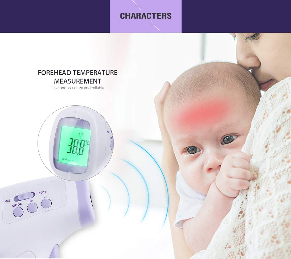 Amazon.com : guucy Multi-Purpose Infrared Babies Thermometer Non-Contact Forehead Body Digital Termometro : Baby