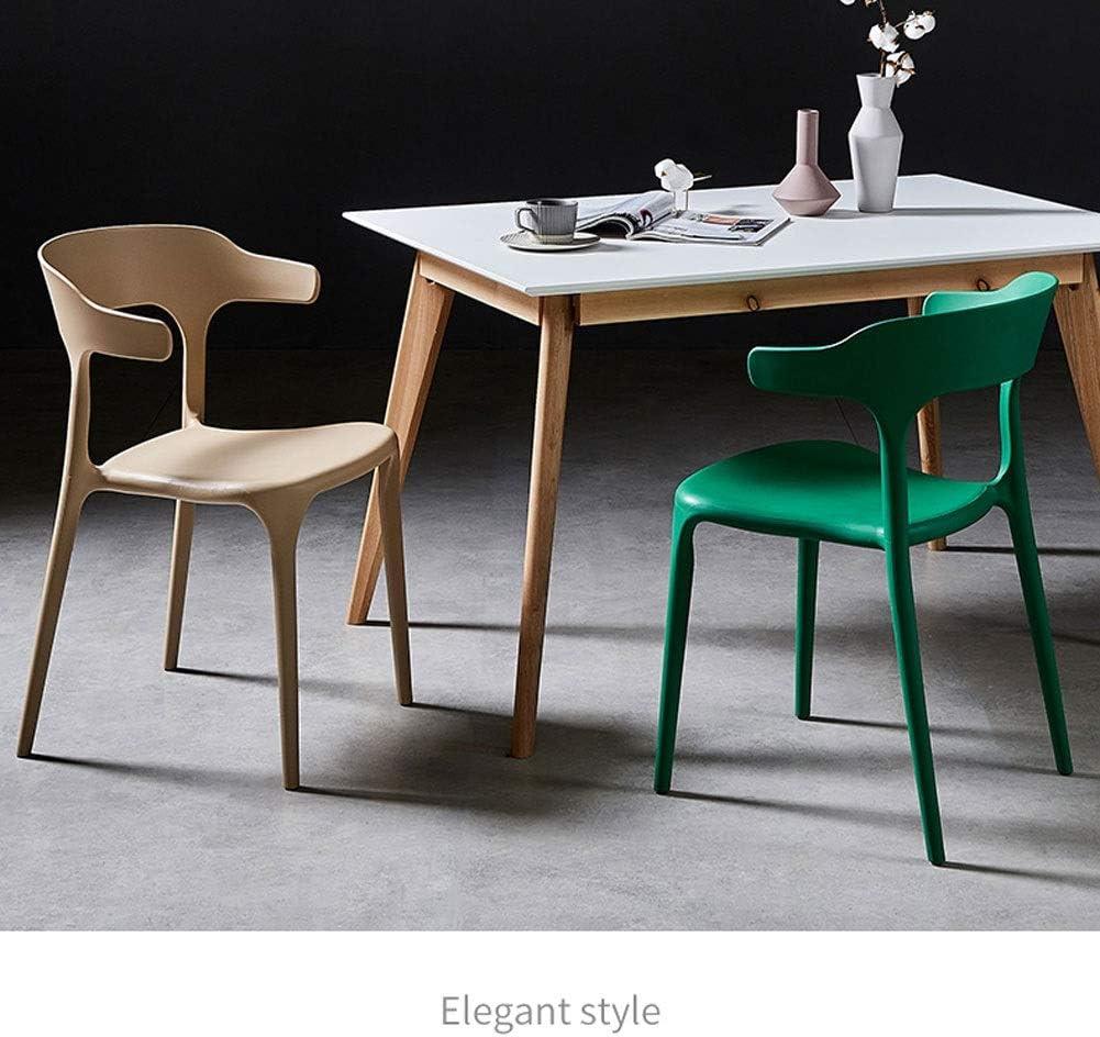 FDSK-STOOL St Kunststoff esszimmerstuhl Mode Hause einfache Restaurant Stuhl Erwachsene Freizeit Stuhl Stuhl (Color : White) Red