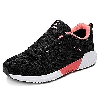 Zapatillas deportivas para mujer, 2018 Otoño/Invierno La nueva moda Zapatillas deportivas ligeras Zapatillas de correr transpirables Zapatos de mujer con ...