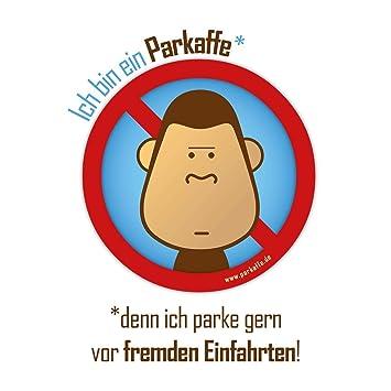 Scheiße Geparkt 10 Aufkleber Gegen Falschparker In Der Einfahrt Parkaffe Sticker Für Die Windschutzscheibe