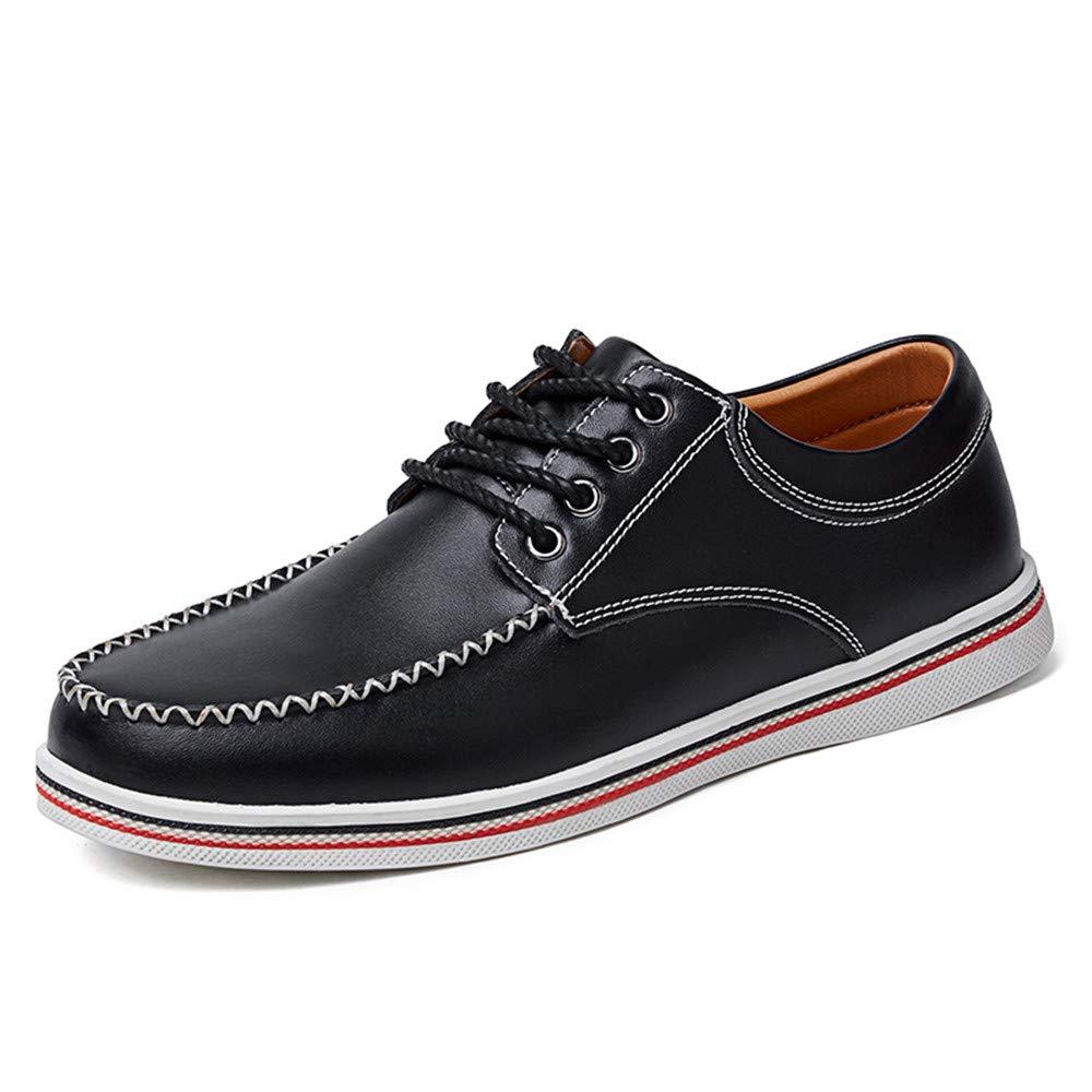 Xujw-schuhe, 2018 Schuhe Herren Herren Business Oxford Schuhe, Casual Mode Komfortable Einfache Weiche Britische Mode Casual Formelle Schuhe (Farbe : Blau, Größe : 41 EU) Schwarz a73692
