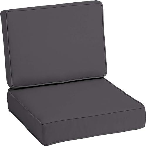 Arden Selections ProFoam Slate Acrylic Deep Seat Set Cushion