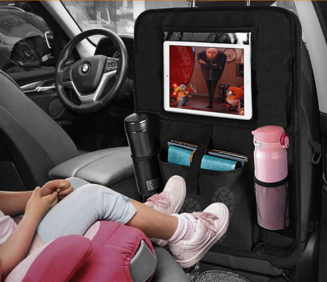 Gro/ße Taschen und iPad-//Tablet-Fach Auto R/ückenlehnenschutz Kick-Matten-Schutz f/ür Autositz 2 St/ück Auto R/ücksitz Organizer f/ür Kinder Wasserdicht Autositzschoner