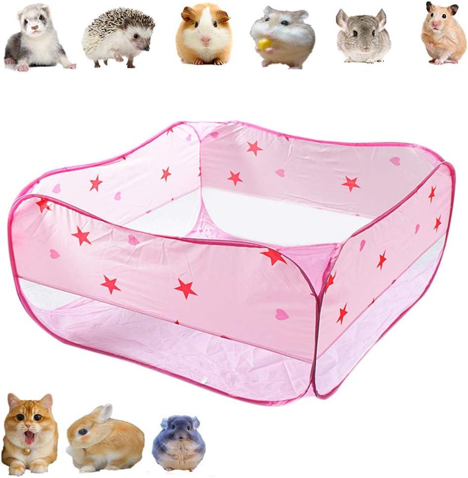 Bingoo - Jaula de transporte para gatos, parque de juegos para animales pequeños, conejos, conejos, camas, hámster, jaula para hámster, chinchilla, túnel, erizo, barrera para exteriores