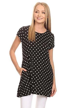 72cda56ce71 Women's Polka Dot Casual Comfy Cute Sexy Loose Fit Short Sleeve ...