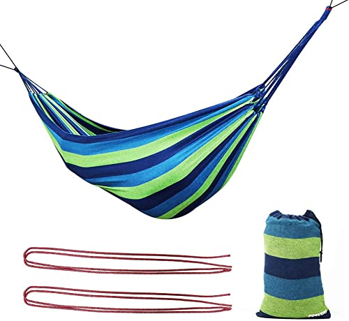 Poecent Hammock,Portable Durable Camping Hammock Perfect for Indoor Outdoor Yard Garden Storage Carrying Bag, 1 Pack