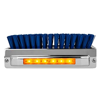 Grand General 98982 Chrome Aluminum Boot Caddie with Blue Brush and Amber/Amber 6 LED Light Bar: Automotive