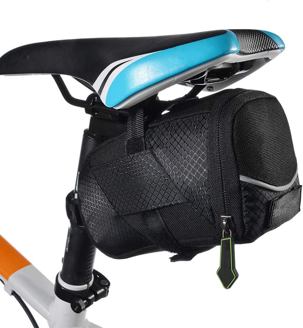 BOLSAS de SillíN para Bicicleta, MTB Impermeable para Bicicleta SillíN Trasero Ciclismo Asiento Trasero Cola Accesorios para Bicicletas, Negro, 18 * 9.2 * 10.4Cm: Amazon.es: Deportes y aire libre