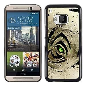 "For HTC One ( M9 ) , S-type Resumen Ojo de Tigre"" - Arte & diseño plástico duro Fundas Cover Cubre Hard Case Cover"