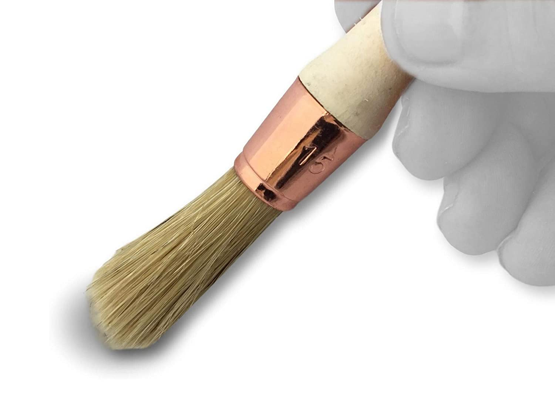 Pintura para renovaci/ón de persianas moldura rodapi/és /ángulo persa KIBROS 370D15/_30 Cepillo redondo de seda blanca Pincel de pulgar /Ø 15 mm